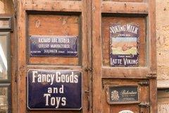 Shop Signs in Valletta.